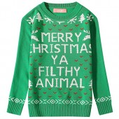 Camii Mia Big Girls' Funny Xmas Pullover Crewneck Ugly Christmas Sweater (Small (7-8), Green)