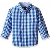 Tommy Hilfiger Baby Boys' Long Sleeve Gingham Shirt