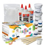 Slime Geek DIY Slime Kit - Make Glow-In-The Dark, Color Changing, Clear and Glitter Slime - Comes With Airtight Containers for Slime Storage - Comes with Recipes and Bonus E-Book