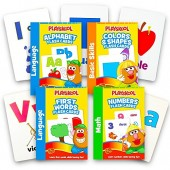 Playskool Flash Cards Value Pack - Alphabet/First Words/Shapes & Colors/Numbers PreK - K