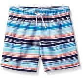 Lacoste Little Boys' Irregular Stripe Swim Suit