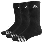 adidas 3-Stripe 3 Pack Crew Socks - Men's