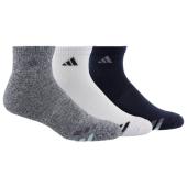 adidas 3-Stripe 3 Pack Quarter Socks - Men's