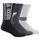 adidas Originals Logo Graphic 3 Pack Crew Socks - Men's