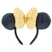 Minnie Mouse Sequined Ear Headband - Golden Faceted Gems