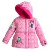 Minnie Mouse Quilted Puffer Jacket for Girls - Personalizable