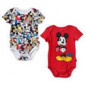 Mickey Mouse Bodysuit Set for Baby - Red