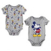 Mickey Mouse Bodysuit Set for Baby - Gray