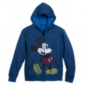 Mickey Mouse Timeless Zip Hoodie for Kids - Navy