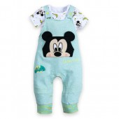 Mickey Mouse Bodysuit and Dungaree Set for Baby