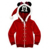 Minnie Mouse Holiday Hooded Fleece Jacket for Girls
