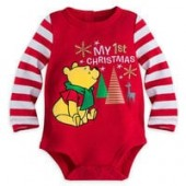 Winnie the Pooh My 1st Christmas Disney Cuddly Bodysuit for Baby
