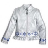 Frozen Faux Leather Jacket for Girls