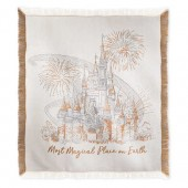 Cinderella Castle Damask Throw - Walt Disney World