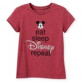Mickey Mouse ''Eat Sleep Disney'' T-Shirt for Girls