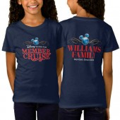 Disney Vacation Club Member Cruise Two-Sided Fitted T-Shirt for Girls - Navy - Customizable