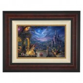 ''Beauty and the Beast Dancing in the Moonlight'' Framed Limited Edition Canvas by Thomas Kinkade Studios