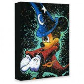 Sorcerer Mickey Mouse Mickey Casts a Spell Giclee on Canvas by Stephen Fishwick