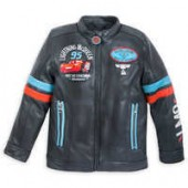 Lightning McQueen Faux Leather Jacket for Boys