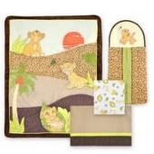 Simba and Nala 4-Piece Crib Bedding Set - The Lion King