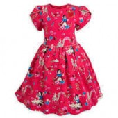 Snow White Woven Party Dress for Girls