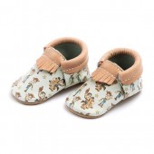 Woody and Bullseye Moccasins for Baby by Freshly Picked