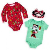 Minnie Mouse and Friends Holiday Bodysuit Set for Baby - Walt Disney World