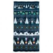Frozen Holiday Cross Stitch Beach Towel