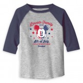 Toddlers' Mickey Mouse 4th of July Long Sleeve Raglan T-Shirt - Disneyland - Customized