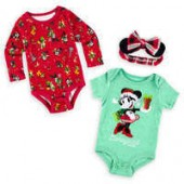 Minnie Mouse and Friends Holiday Bodysuit Set for Baby - Disneyland