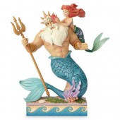 Ariel and Triton ''Daddy's Little Princess'' Figure by Jim Shore