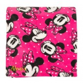 Minnie Mouse Fleece Throw - Personalized