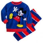 Mickey Mouse Fuzzy Pajama Set for Kids