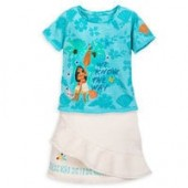 Moana Top and Skirt Set for Girls