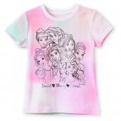Disney Princess Tie-Dye T-Shirt for Girls