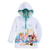Minnie Mouse and Friends Pullover Zip Hoodie for Girls - Disneyland
