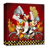 Mickey Mouse and Friends ''Wheeling with Flavor'' Giclee on Canvas by Tim Rogerson