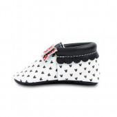 Minnie Mouse Leather Moccasins for Baby by Freshly Picked