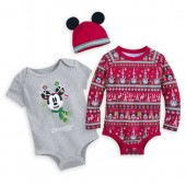 Mickey Mouse Holiday Bodysuit Set for Baby - Disneyland