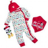 Santa Mickey Mouse First Christmas Gift Set for Baby
