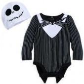 Jack Skellington Costume Bodysuit Set for Baby