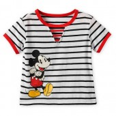 Mickey Mouse Striped Top for Girls