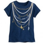 The Little Mermaid Necklace T-Shirt for Girls