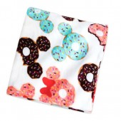 Mickey and Minnie Mouse Donut Fleece Throw
