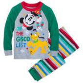 Mickey Mouse and Pluto Holiday PJ Set for Boys