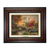 ''Mickey and Minnie Sweetheart Central Park'' Canvas Classic by Thomas Kinkade Studios - Framed