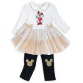 Minnie Mouse Holiday Tutu Dress and Leggings Set for Baby
