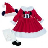 Santa Minnie Mouse Set for Baby