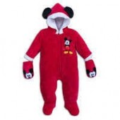 Mickey Mouse Holiday Snuggle Suit for Baby