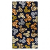 Mickey Mouse Icon Animal Print Beach Towel - Disneys Animal Kingdom